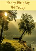 Happy Birthday - 94 Today - Option 1